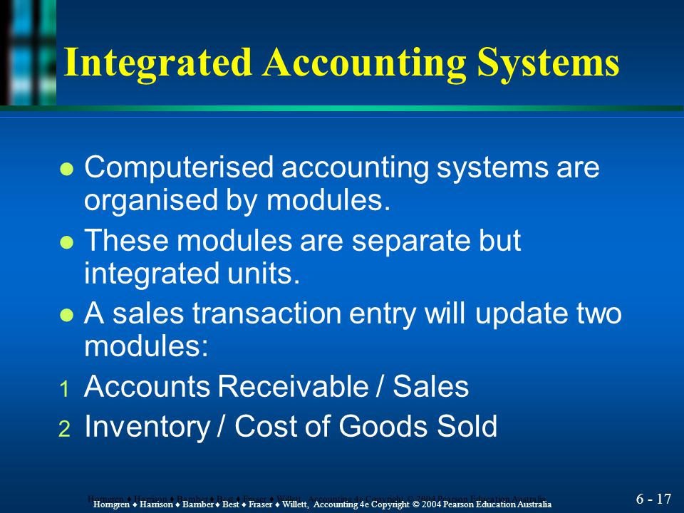 Integrated Accounting Systems
