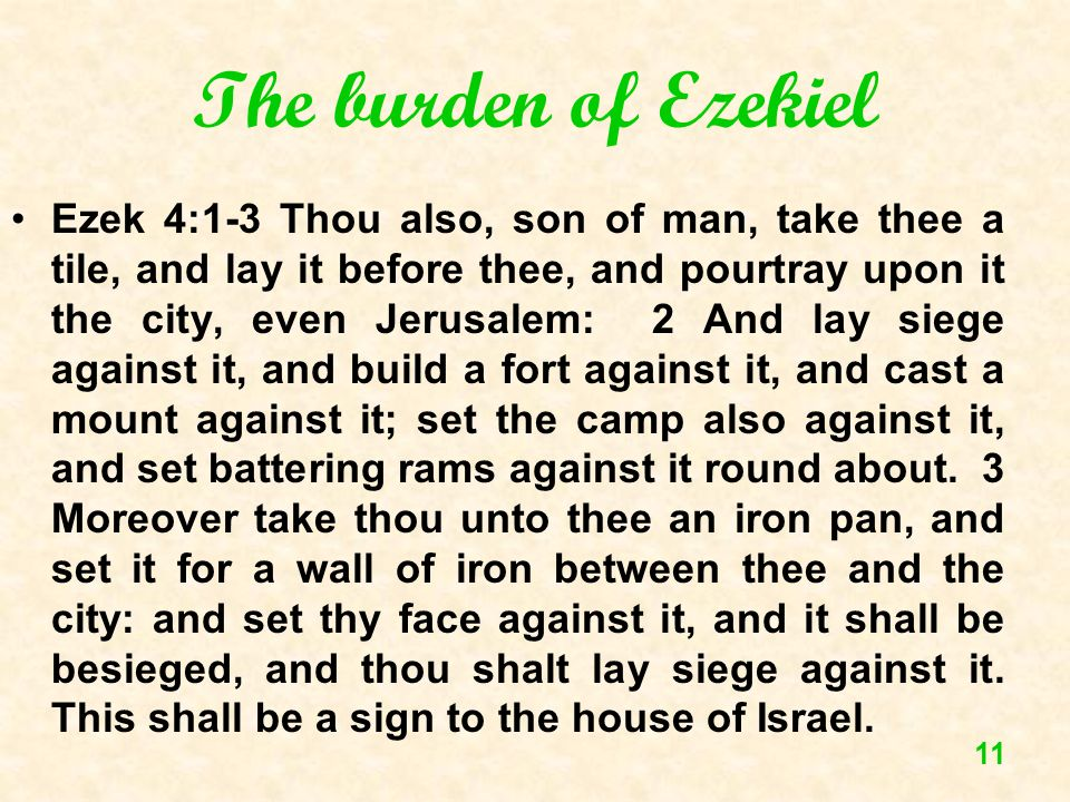 The burden of Ezekiel