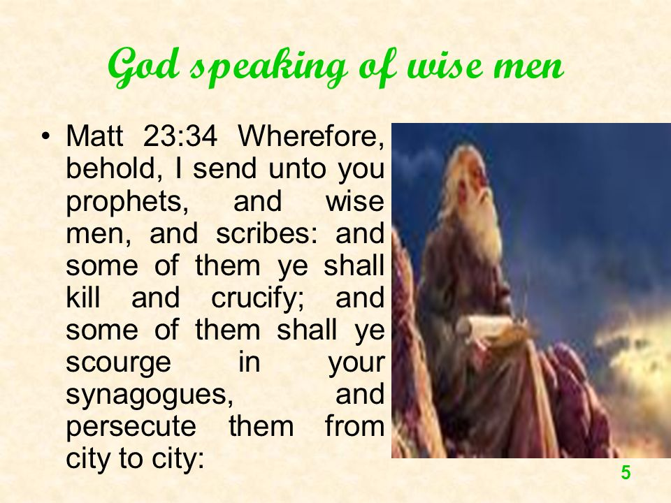 God speaking of wise men