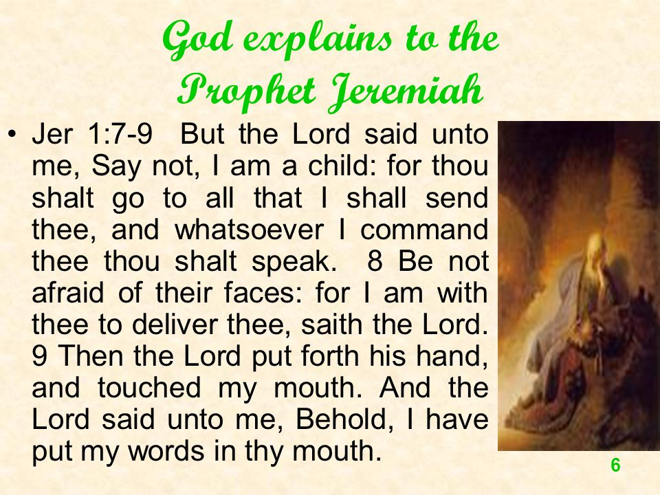 God explains to the Prophet Jeremiah