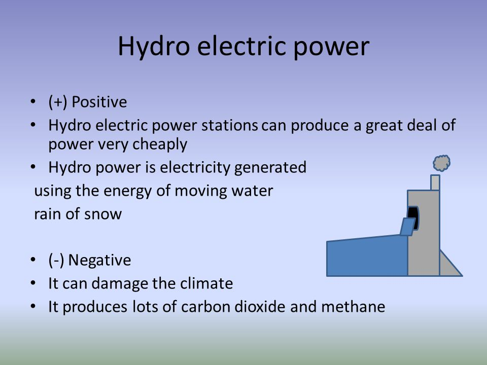 Hydro electric power (+) Positive