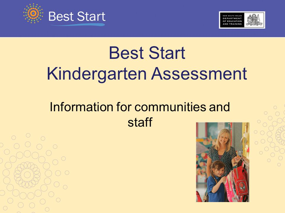 Best Start Kindergarten Assessment