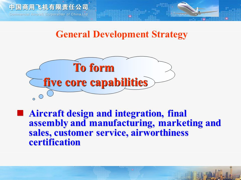 General Development Strategy five core capabilities