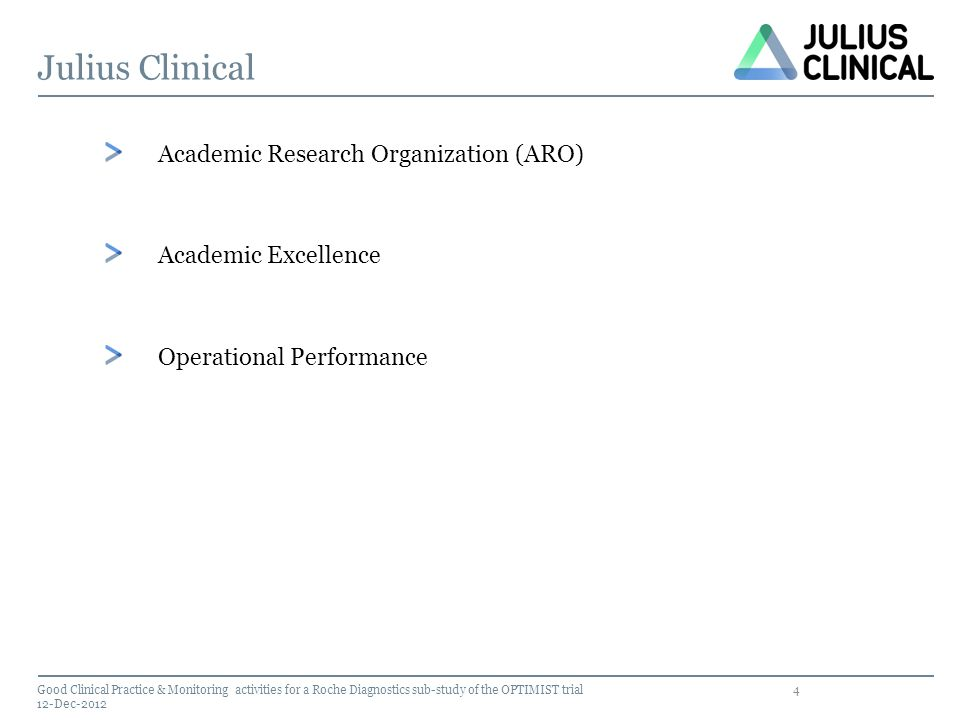 Julius Clinical Academic Research Organization (ARO)