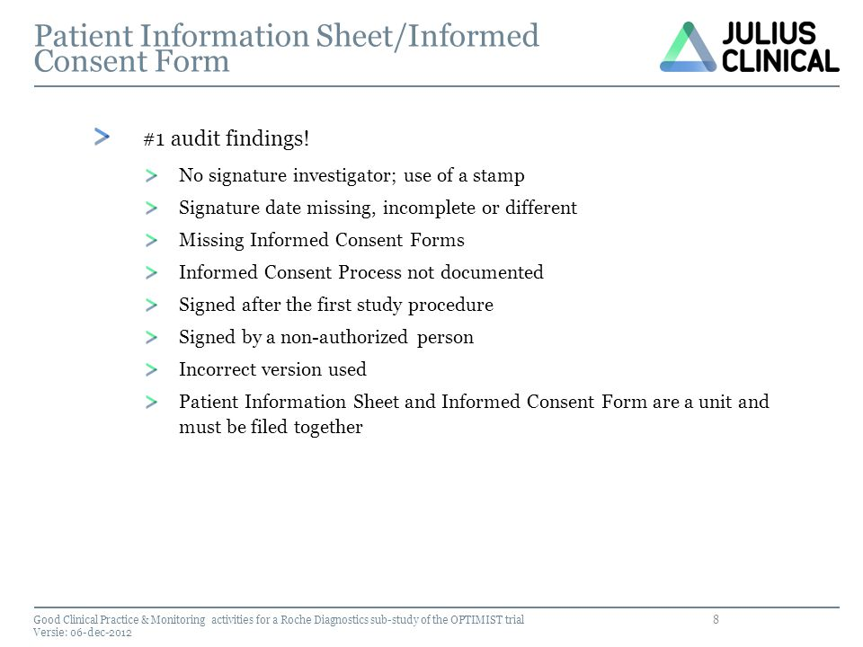 Patient Information Sheet/Informed Consent Form
