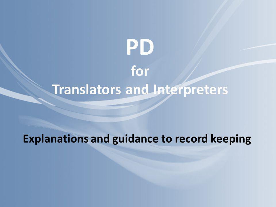PD for Translators and Interpreters