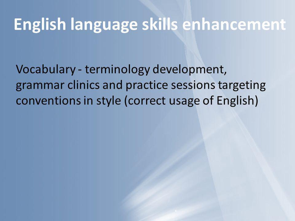 English language skills enhancement