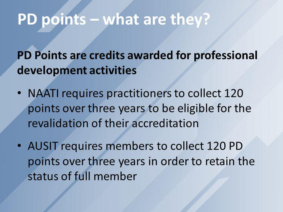 PD points – what are they