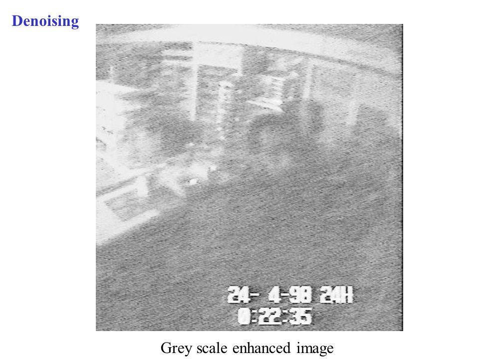 Denoising Grey scale enhanced image