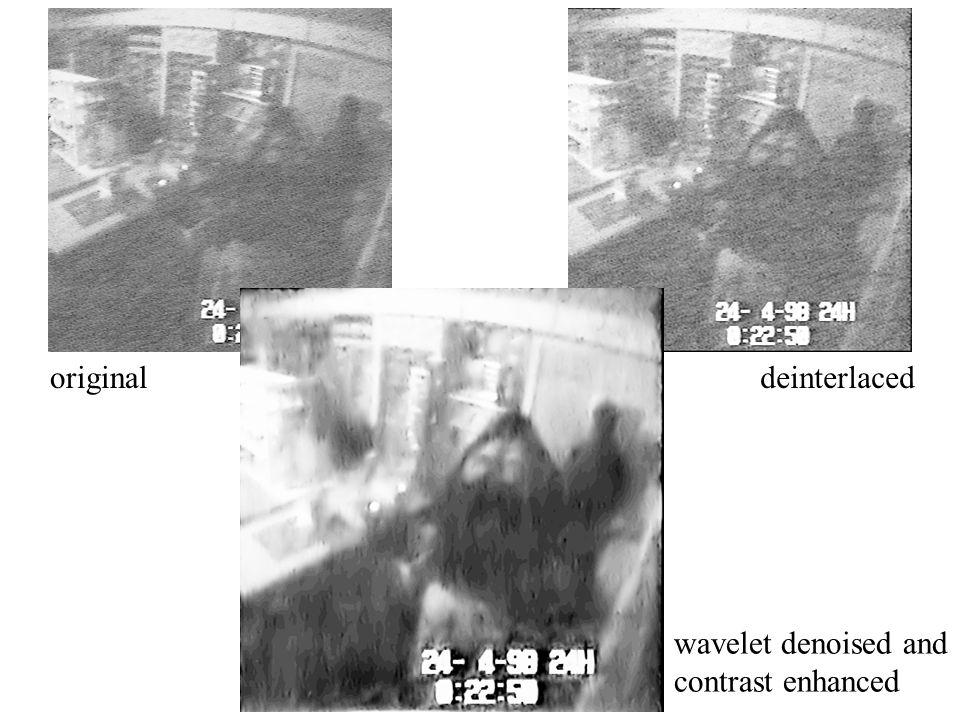 original deinterlaced wavelet denoised and contrast enhanced