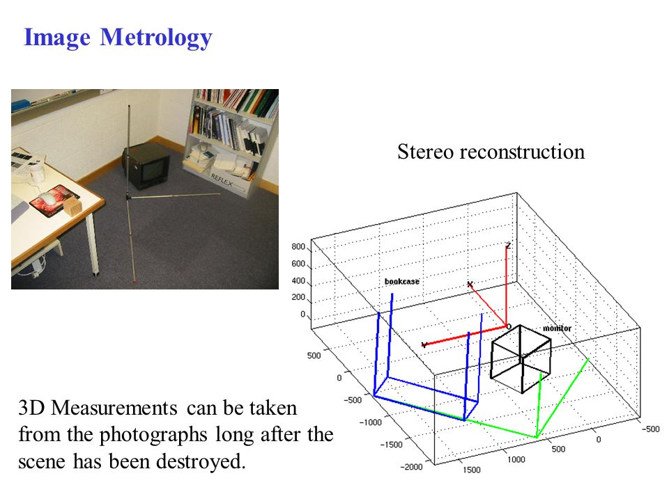 Image Metrology Stereo reconstruction