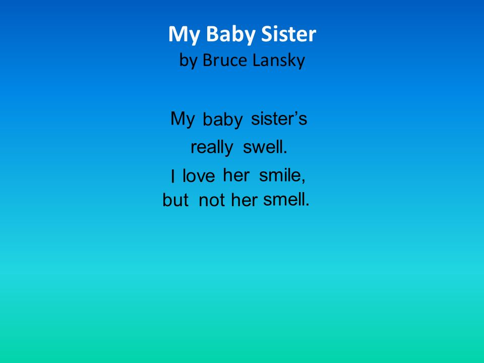 My Baby Sister by Bruce Lansky