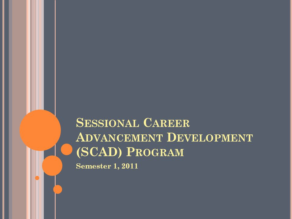 Sessional Career Advancement Development (SCAD) Program