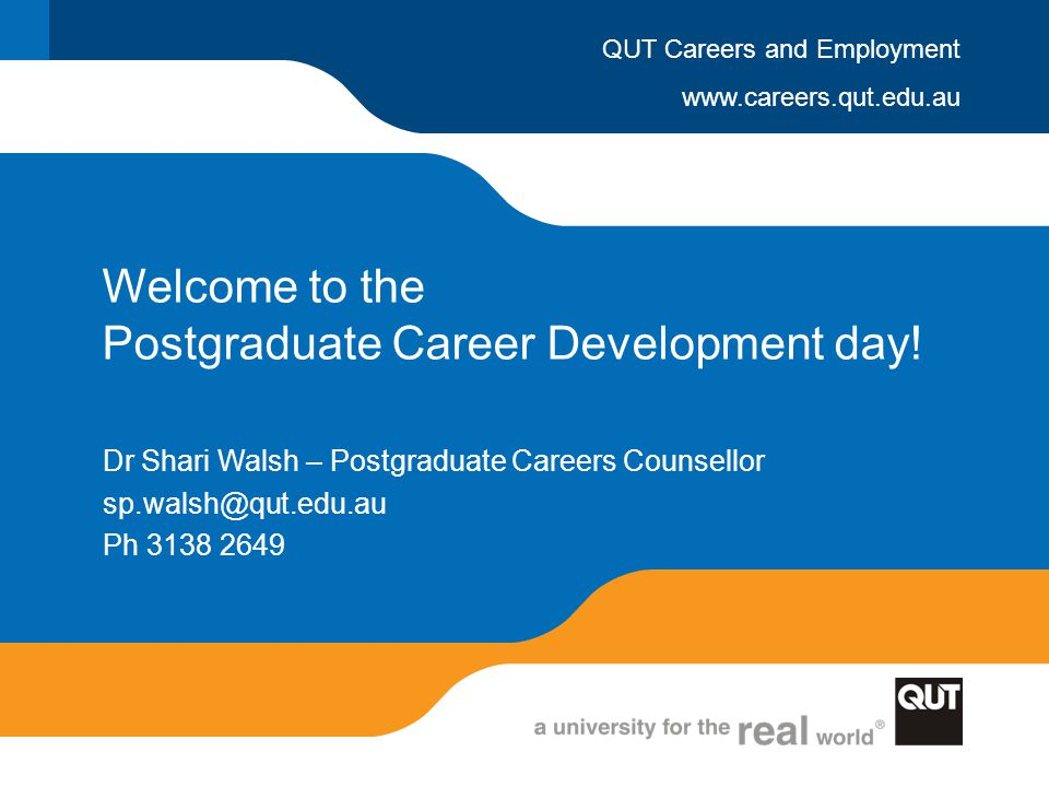 Welcome to the Postgraduate Career Development day!