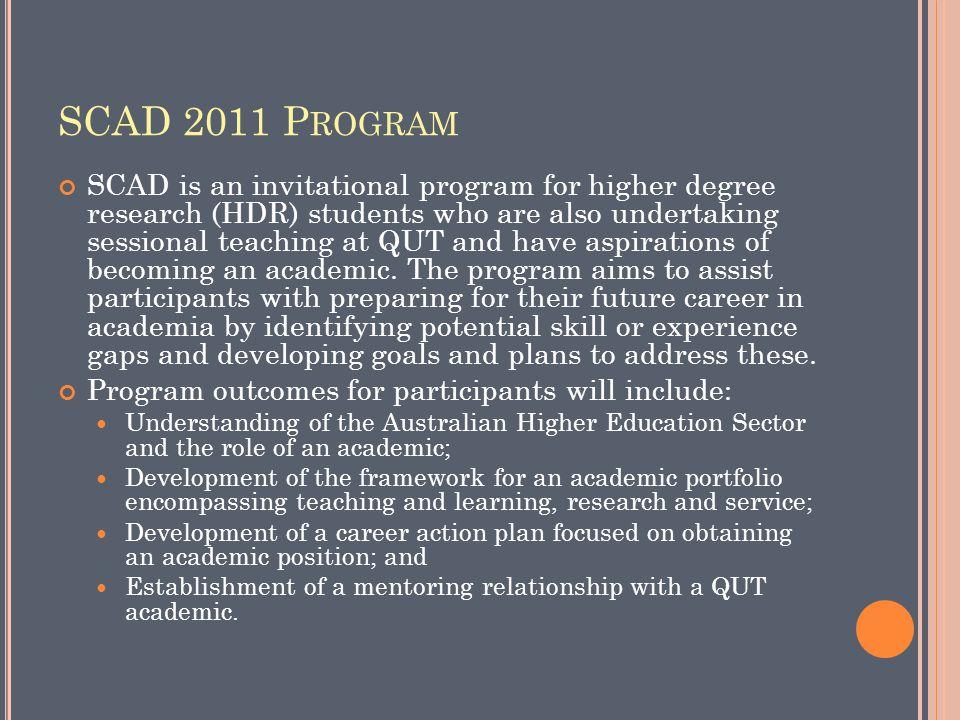 SCAD 2011 Program
