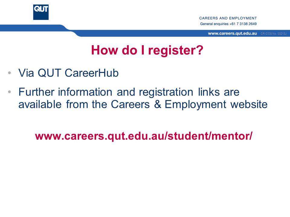 How do I register Via QUT CareerHub