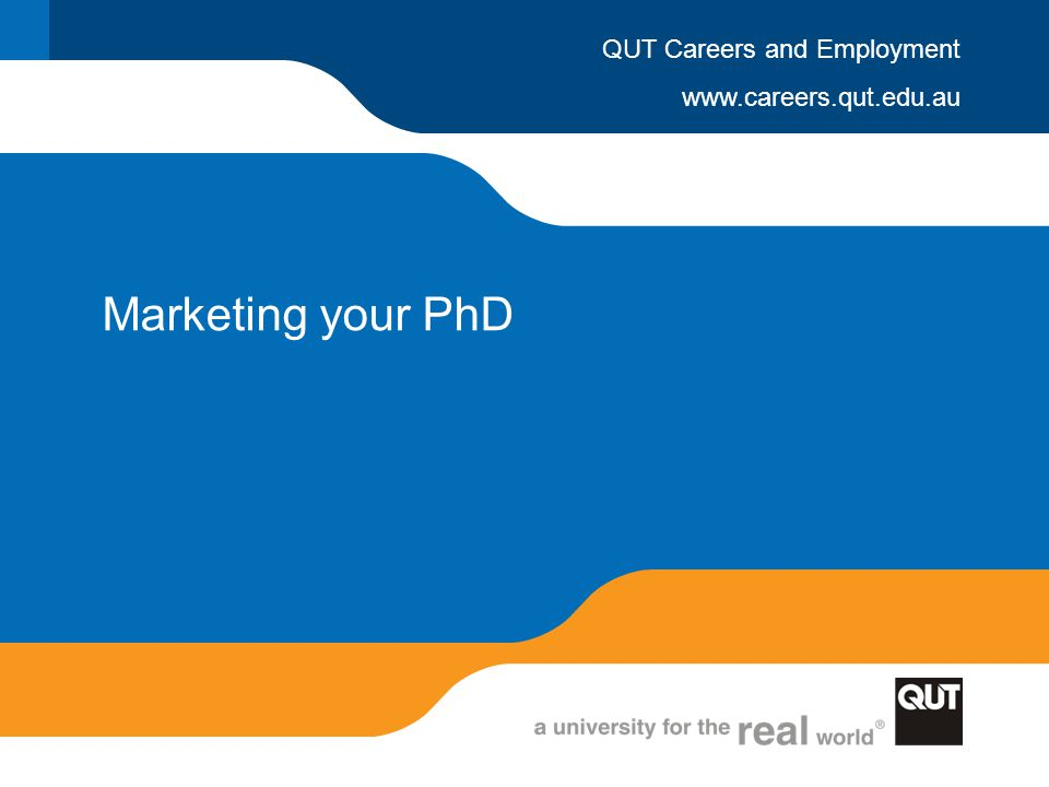 Marketing your PhD