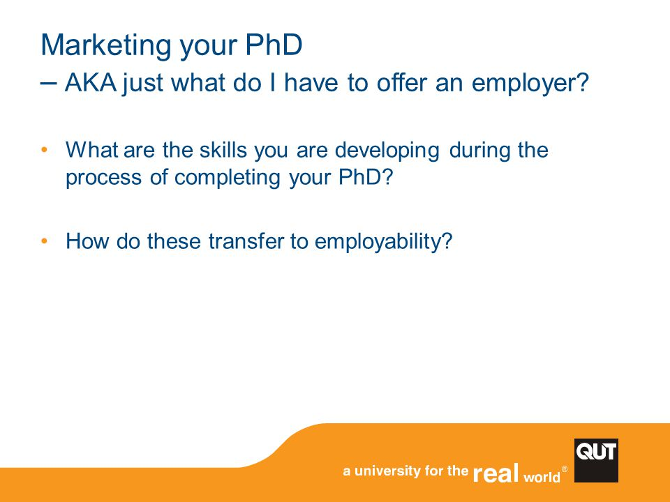 Marketing your PhD – AKA just what do I have to offer an employer