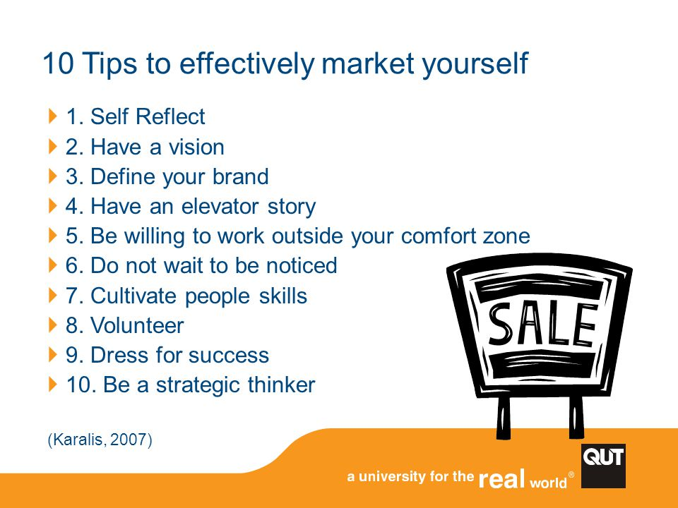 10 Tips to effectively market yourself