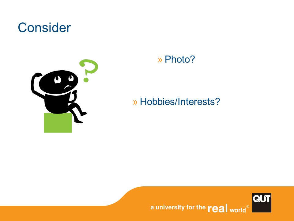 Consider Photo Hobbies/Interests
