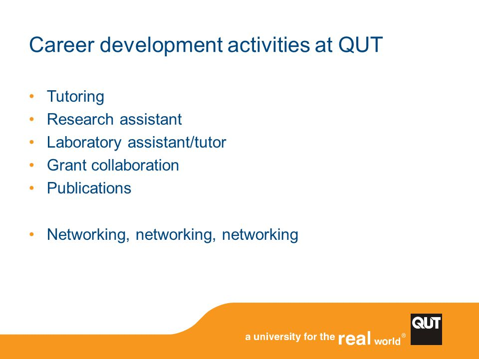 Career development activities at QUT