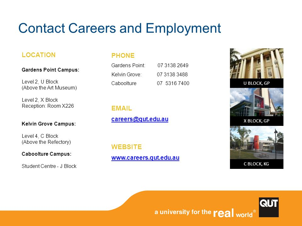 Contact Careers and Employment
