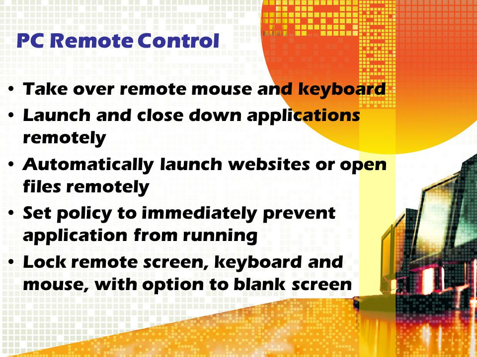 PC Remote Control Take over remote mouse and keyboard