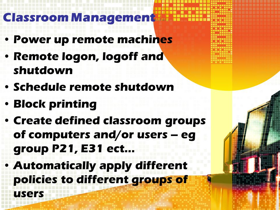 Classroom Management Power up remote machines