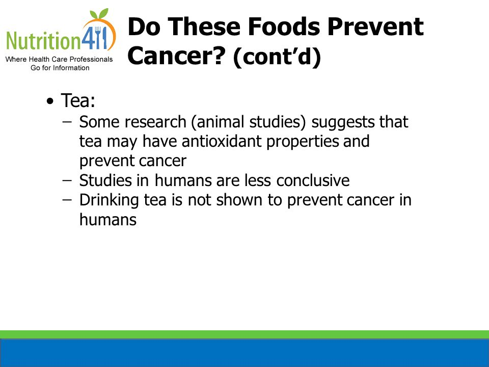 Do These Foods Prevent Cancer (cont'd)