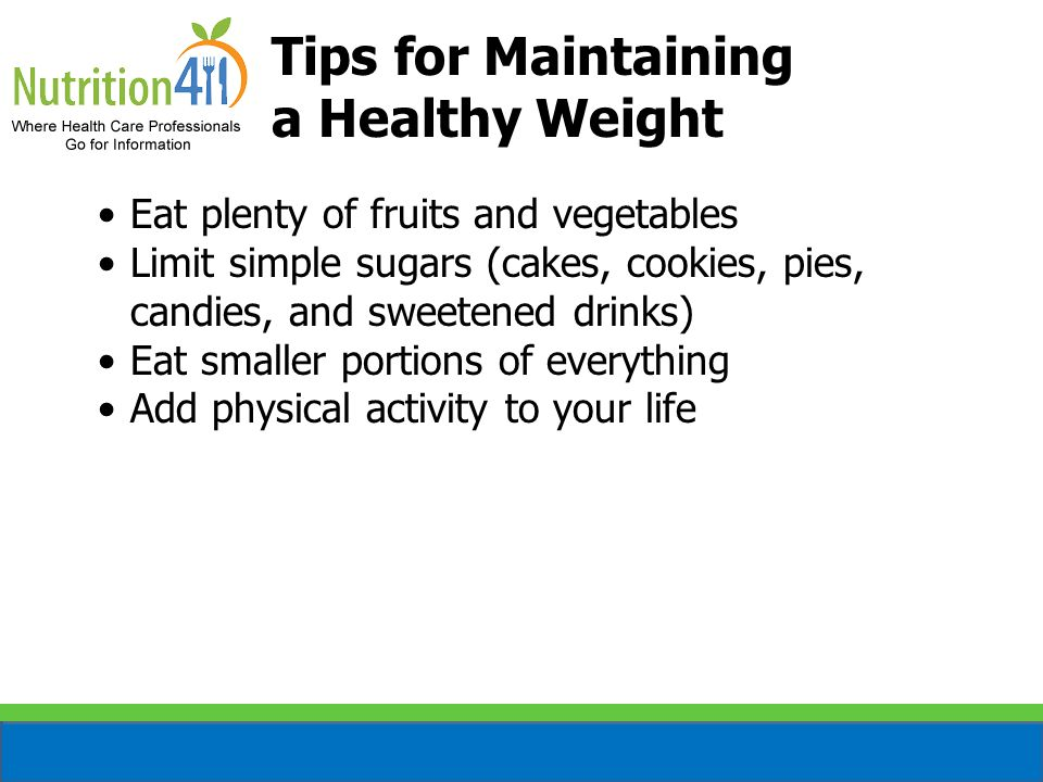Tips for Maintaining a Healthy Weight