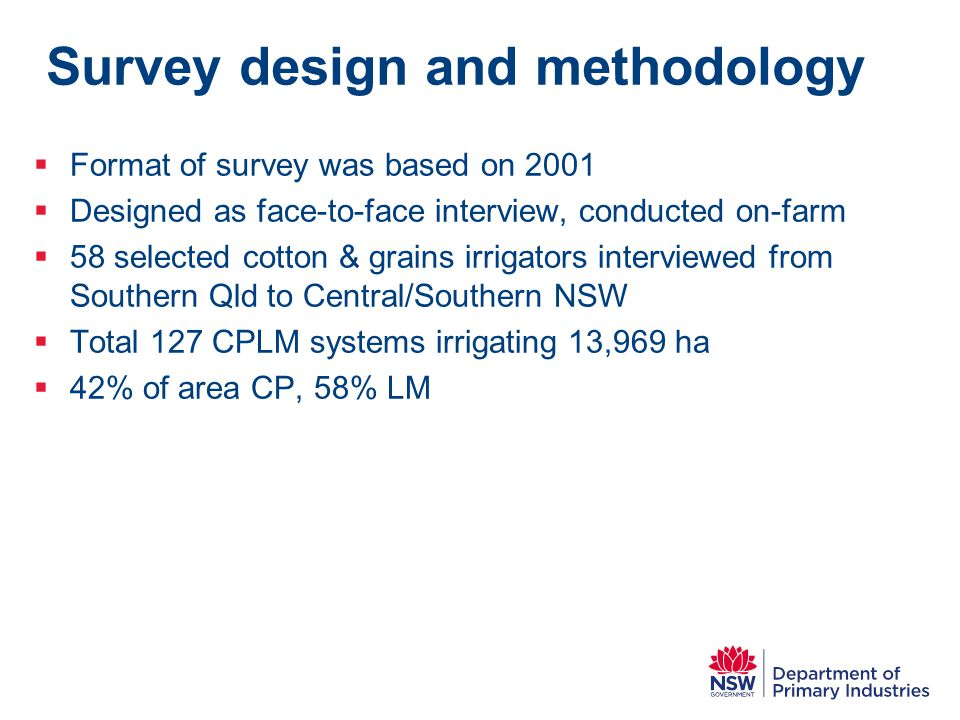 Survey design and methodology