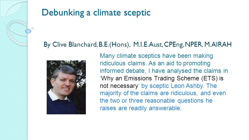Debunking a climate sceptic