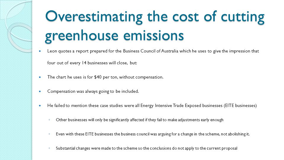 Overestimating the cost of cutting greenhouse emissions