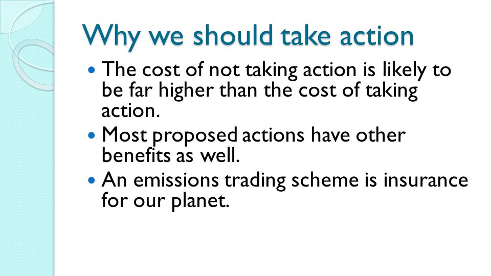 Why we should take action