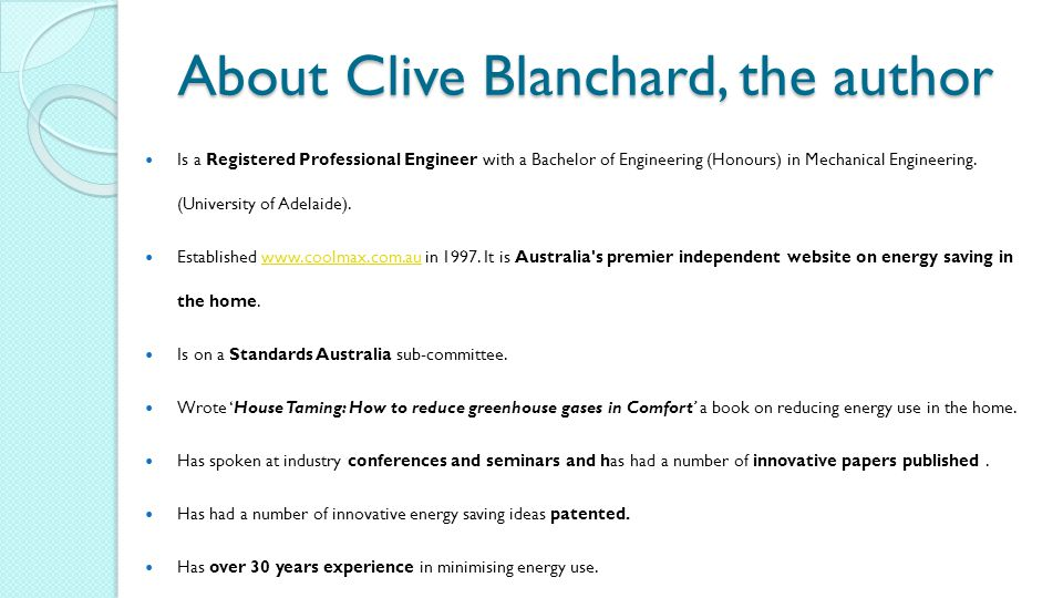 About Clive Blanchard, the author