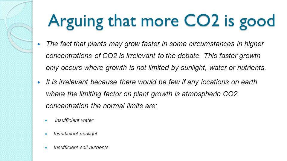 Arguing that more CO2 is good