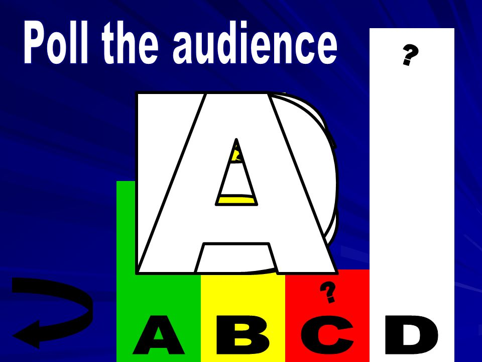 Poll the audience A B C D D A B C