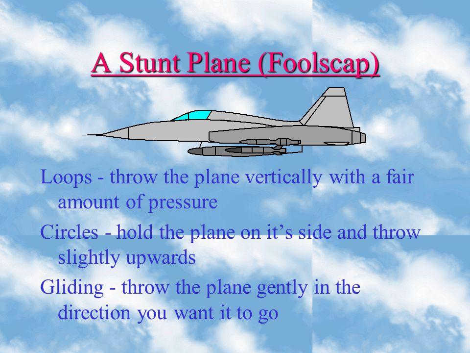 A Stunt Plane (Foolscap)