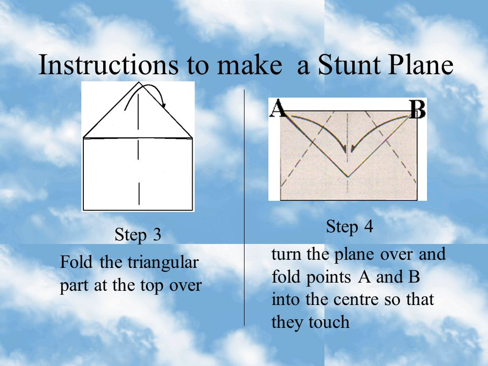 Instructions to make a Stunt Plane