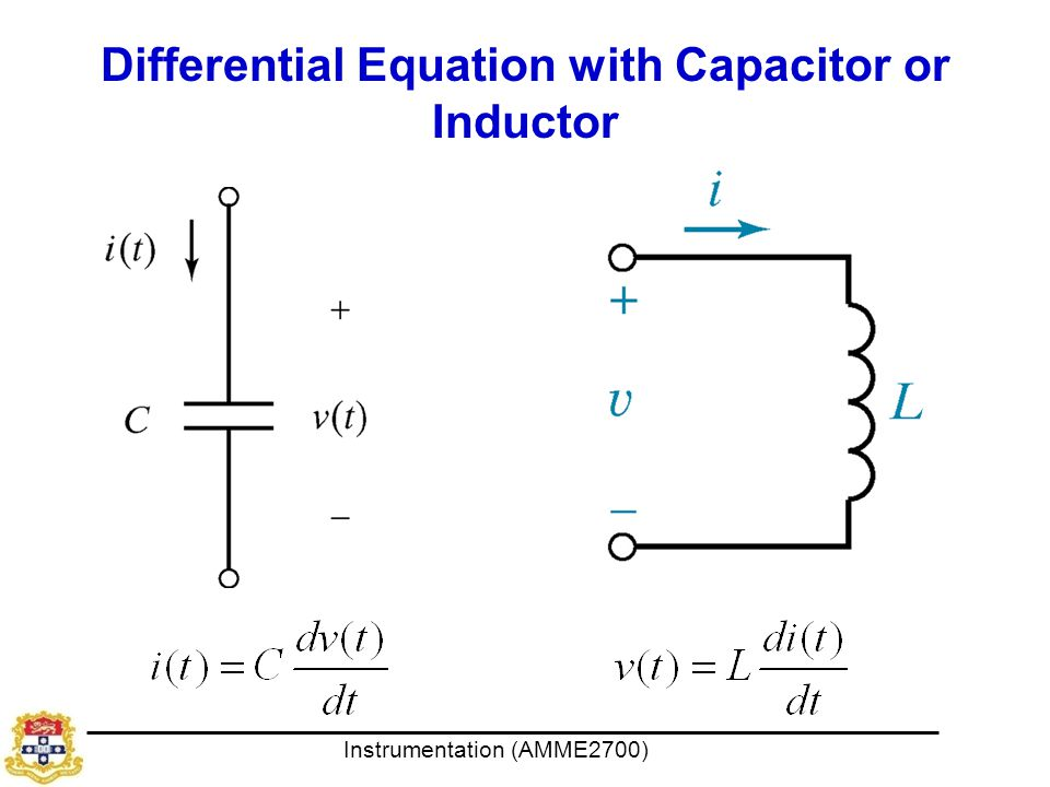 Differential Equation with Capacitor or Inductor