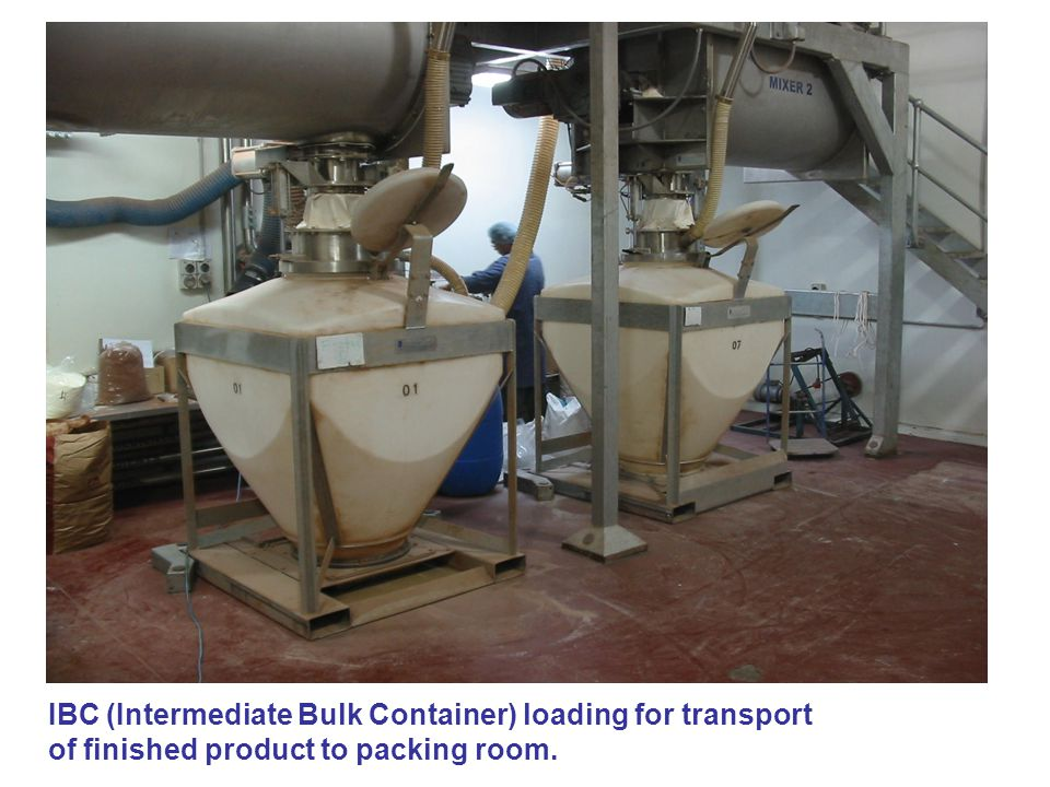 IBC (Intermediate Bulk Container) loading for transport