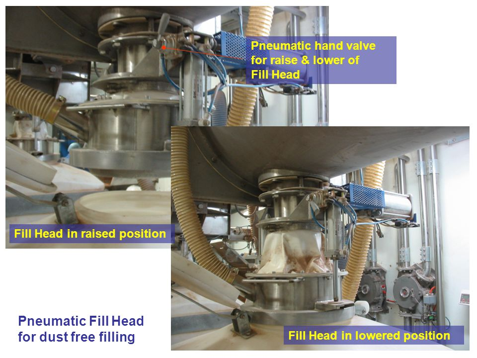 Pneumatic Fill Head for dust free filling Pneumatic hand valve