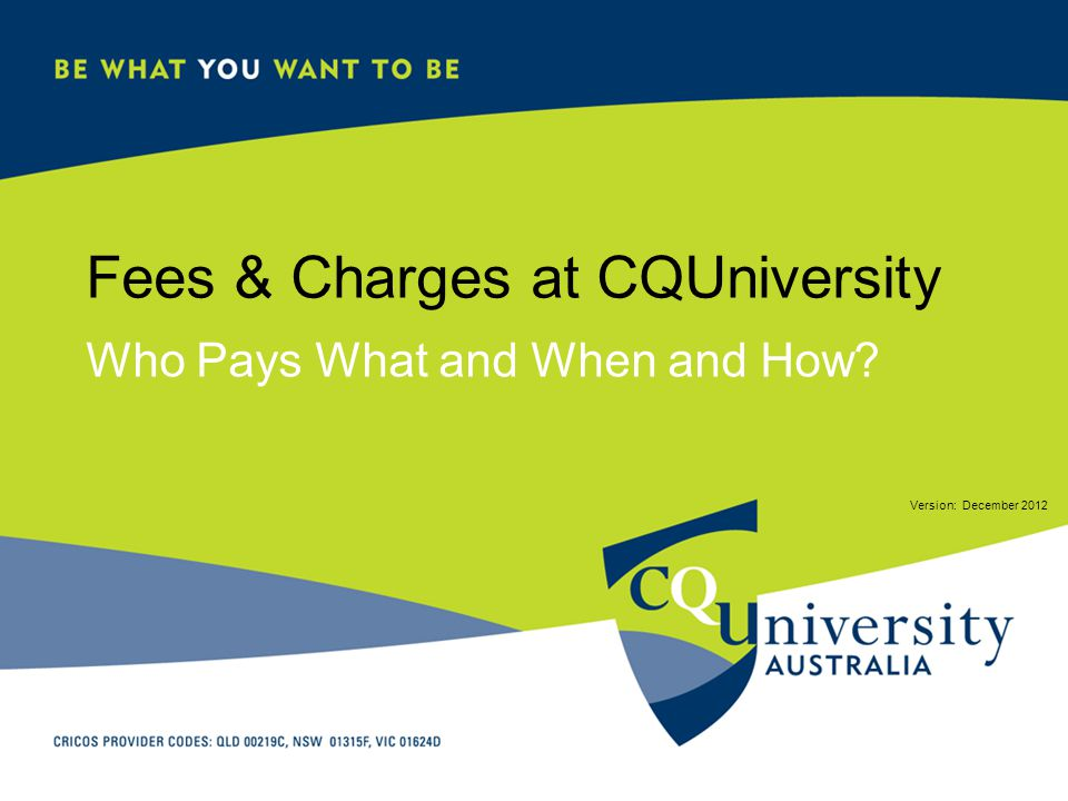 Fees & Charges at CQUniversity