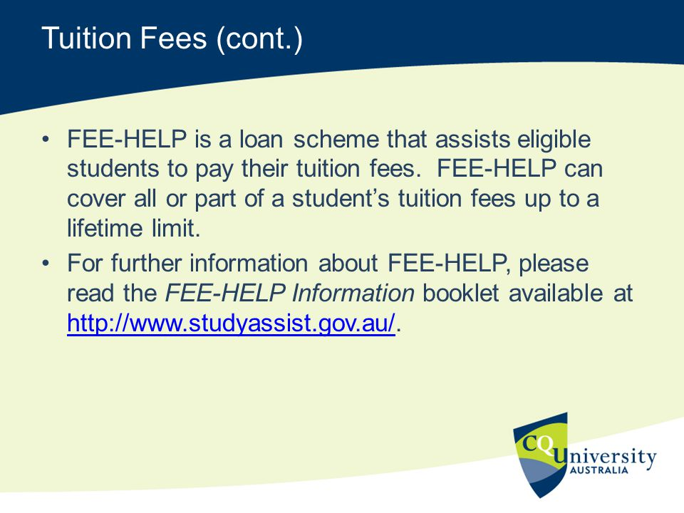 Tuition Fees (cont.)