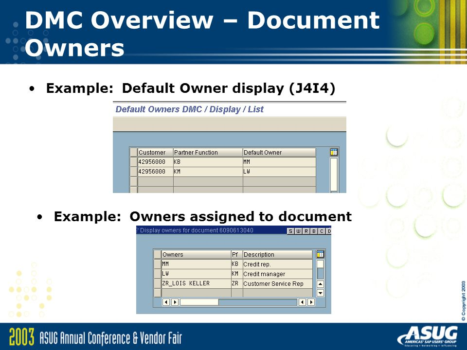 DMC Overview – Document Owners