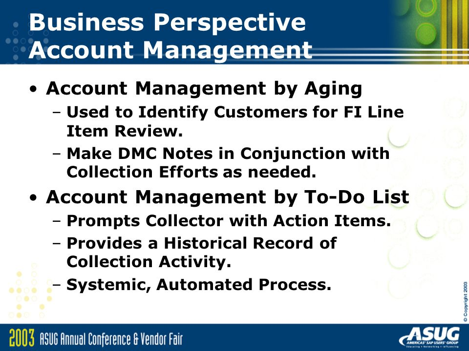 Business Perspective Account Management