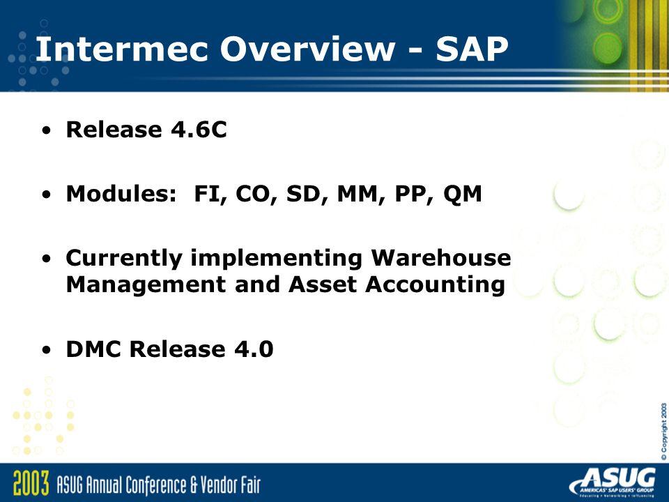 Intermec Overview - SAP