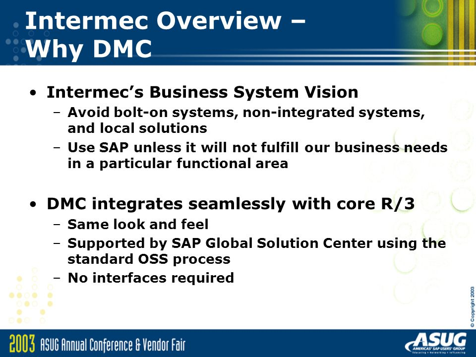 Intermec Overview – Why DMC