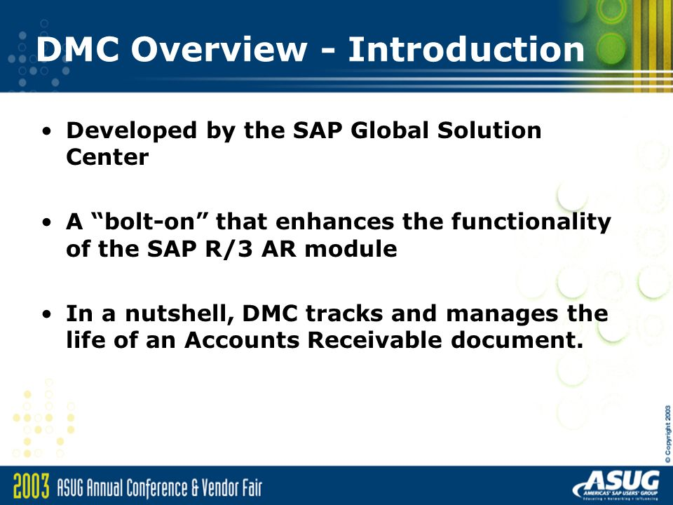DMC Overview - Introduction