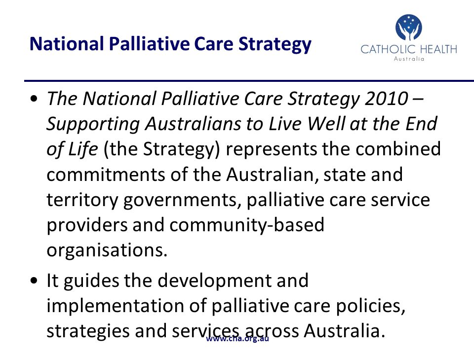 National Palliative Care Strategy